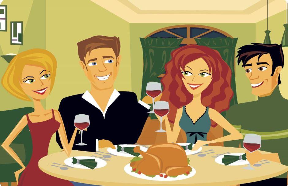 Dinner Party Image Cartoon