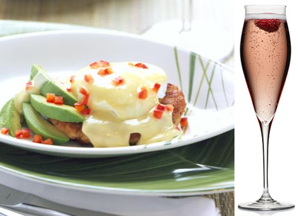 crab benedict champagne