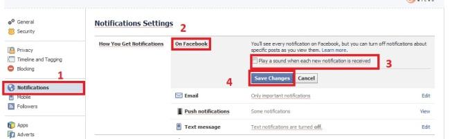 turn off facebook sound notification 2