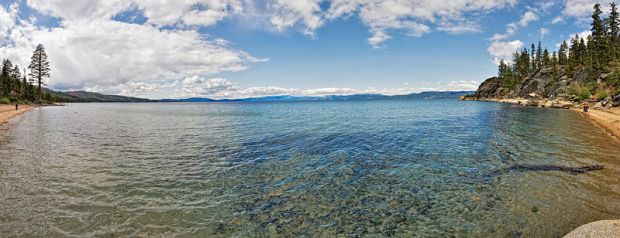 Lester Beach and Calawee Cove, Lake Tahoe, California, U.S.A.