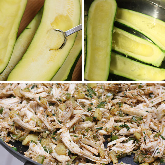 Chicken-Enchilada-Stuffed-Zucchini-how-to
