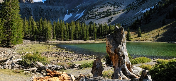 CR4GD4 Teresa Lake below Mount Wheeler peak, Great Basin National Park, Nevada, USA, North America